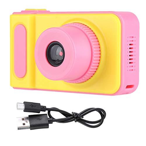 【Venta del día de la Madre】 AMONIDA Cámara de Juguete para niños, cámara de Video para niños, compacta y Liviana con resolución de 1080P, Viajero para Artista en casa, fotógrafo(Pink)