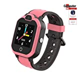 Simmotrade® 4G/LTE GPS Tracker Uhr für Kinder - Vergleichssieger beim ComputerBild Test: Beste Kinder-Smartwatches (pink)