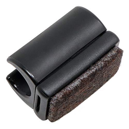 Adsamm® / 16 x Klemmschalengleiter mit Filz/ø für runde Rohre 12-13 mm/Schwarz/rund/Möbelgleiter mit austauschbarer Filzfläche für Freischwinger in Premium-Qualität