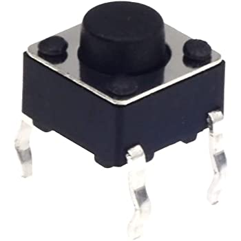 100Pcs Momentary Tactile Tact Push Button Switch 2 Pin DIP 6x6x4.3mm High 4/_F.UK