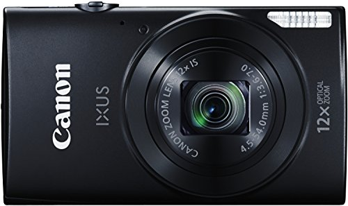 Canon IXUS 170 Digitalkamera (20 MP, 12-fach optisch, Zoom, 24-fach ZoomPlus, opt. Bildstabilisator, 6,8cm (2,7 Zoll) LCD-Display, HD-Movie 720p) schwarz