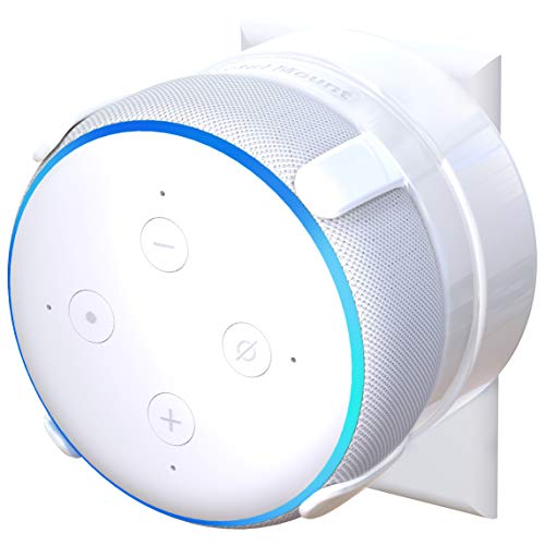 TotalMount Outlet Mount for Echo Dot 3rd Gen (Includes Cable Management) - White