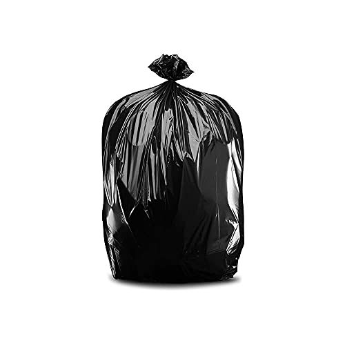 """Plasticplace T55120BK 55-60 Gallon Trash Bags │ 1.2 Mil │ Black Heavy Duty Garbage Can Liners │ 38"""" x 58"""", 100 Count"""