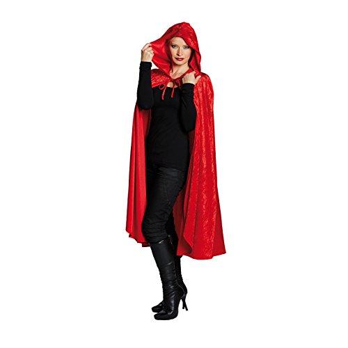 Rubies 14848-L Capa de Terciopelo con Capucha, Color Rojo, Talla nica