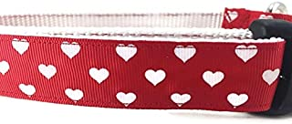 Spring Dog Collar, Caninedesign, Valentine, St Patricks Day, Easter, 1 inch Wide, Adjustable, Nylon, Medium and Large