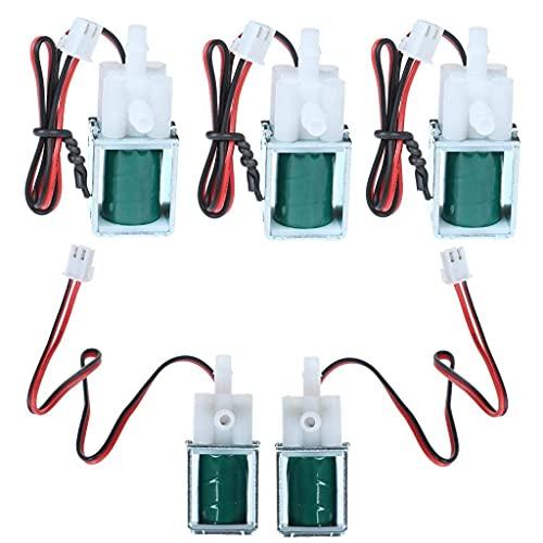 Válvula solenoide de 5 paquetes, válvula de ventilación eléctrica de CC 12...