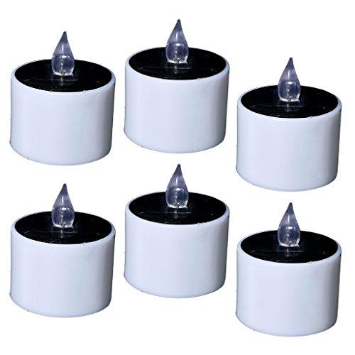 Sharplace 6 Pcs LED Clignotante Tea Lights Électric Candles Bougie sans Flamme Lumière Partie Décor De Mariage Fête Jardin