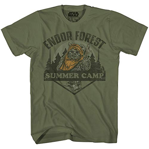 Star Wars Endor Forest Summer Camp Ewok Tee Battle for Endor Return of Jedi Funny Humor Pun Adult Mens Graphic T-Shirt (Olive, XX-Large)
