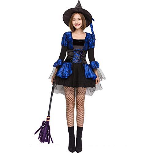 QAQBDBCKL Costume da Strega Sexy Deluxe Costume da Carnevale di Carnevale per Donna Strega Carina Vestiti da Principessa