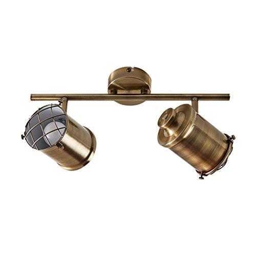 Lindby LED Deckenlampe 'Ebbi' dimmbar (Modern) in Bronze aus Metall u.a. für Wohnzimmer & Esszimmer (2 flammig, E14, A+, inkl. Leuchtmittel) - Deckenleuchte, Wandleuchte, Strahler, Spot, Lampe