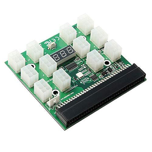 YOUANG Pci-12 V 64 Pines a 12X6 Pines Adaptador de Fuente de Alimentación Placa de Adaptación para HP 1200W 750W PSU Servidor GPU BTC Minería para Energía de Servidor Común