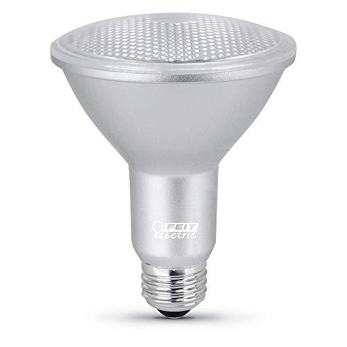 """Feit Electric PAR30LDM/950CA/4 8.3W 75W Equivalent Dimmable 750 Lumens Long Neck LED PAR30 Light Bulb, 4.8""""H x 3.75""""D, 5000K (Daylight), 4 Piece"""