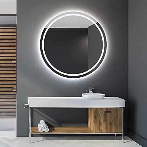 Artforma Rund Badspiegel mit LED Beleuchtung 70cm - Wählen Sie Zubehör - Individuell Nach Maß - Beleuchtet Wandspiegel Lichtspiegel Badezimmerspiegel | beleuchtet Bad Licht Spiegel L33