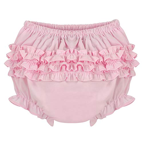Carriage Boutique Baby Girl Pink Ruffle Panty Diaper Covers - Bloomers, 9M