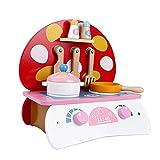 LYATW Mini-Holz-Pilz-Form-Simulation Küche Spielzeug, Küche Spielhaus Kinderspielzeug
