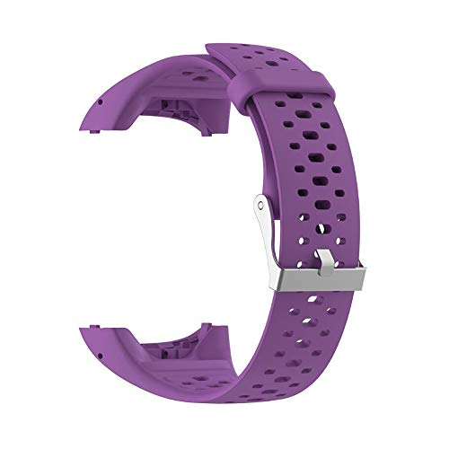 Vimoer reservearmband voor Smartwatch Polar M400 M430, siliconen band met Polar Tracker A360 A370, for Polar M400 M430 Smart Watch, Paars