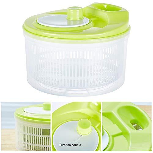 Gemüseschleuder, Salatschleuder und Abtropfbecken, Kunststoff-Salatschleuder, Trockner für Gemüse- und Obstsalat