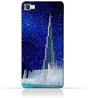 Infinix Zero 3 X552TPU Silicone Protective Case with Burj Khalifa and Water Fountain on a Starry Night Design