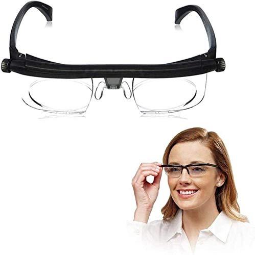 ZGHYBD Einstellbare Brille mit variablem Fokus 6D bis + 3D Dioptrien Einstellbare Lesebrille zum Lesen von Fernsichtbrillen