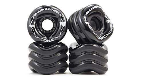 Shark Wheel 72 mm 78a Longboard Wheels   DNA Formula   Black (4-Pack)