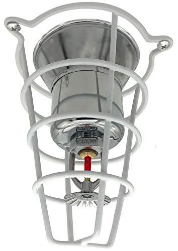 Feuer-Sprinkler-Kopfschutz für 1/2 und 3/4 Sprinklerkopf, 15,2 cm tief, Weiß, FSG06W04