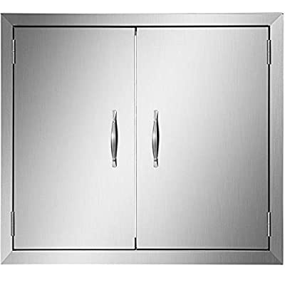 Mophorn BBQ Access Door Cutout 24Width x 24Height BBQ Island Door Brushed Stainless Steel Perfect for Outdoor Kitchen or BBQ Island
