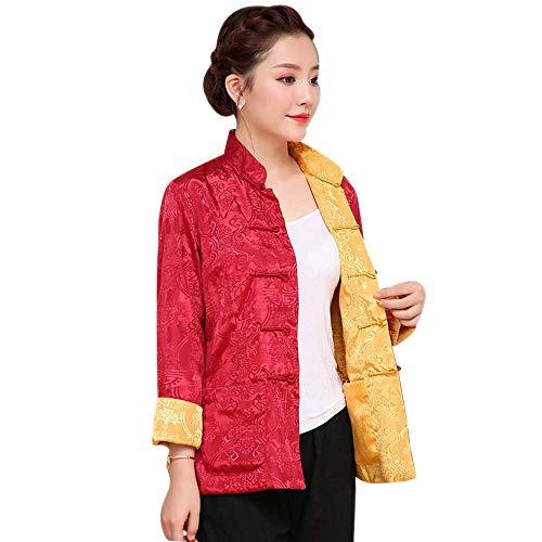 La Tai Chi Jas voor vechtsporten voor dames en heren, modieus, met jasje, lange mouwen, tang-jurk voor heren