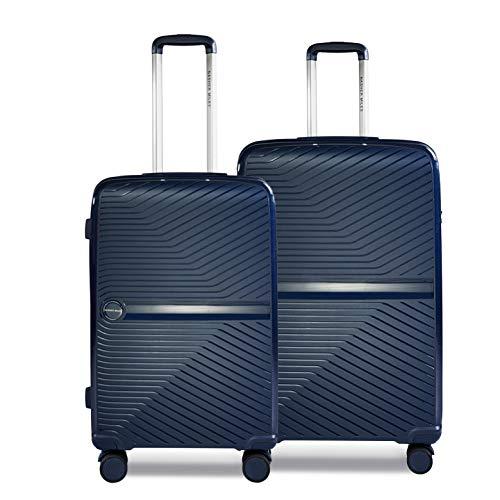 Nasher Miles Bruges 24, 28 Inch ,Set of 2, Hard-Sided, Polypropylene Luggage, Navy Blue 65,75 cm Trolley Bag