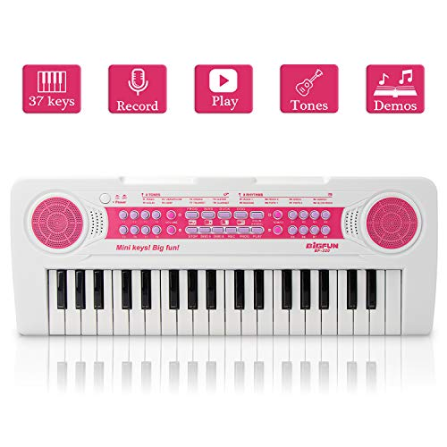 JINRUCHE Kids Piano, 37Keys Multi-Function Electronic Keyboard Piano Play Piano Organ Music...