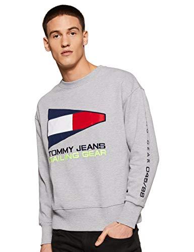 Tommy Hilfiger Men's Sweatshirt (A8ATH137XL_Light Grey HTR_XL)