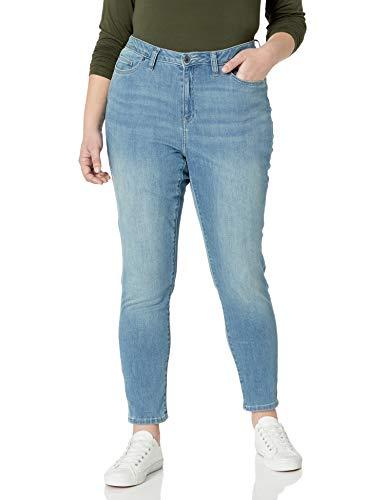 Amazon Essentials Plus Size Skinny Jean, Délavé Clair, 52 Regular