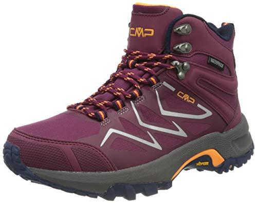CMP – F.lli Campagnolo Gemini Mid Wmn Trekking Shoe WP, Stivali da Escursionismo Alti Donna, Rosso Goji H807, 36 EU