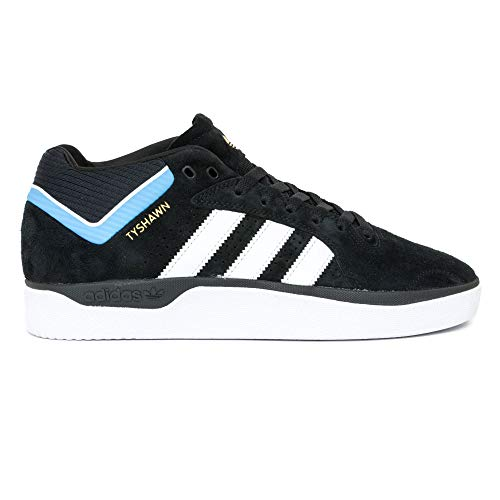 adidas Skateboarding Tyshawn Zapatillas de Skateboarding Core Black White Light Blue Negro Size: 43 1/3 EU