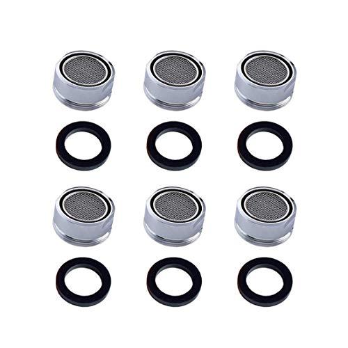 Repuhand 6 Piezas Filtro grifo de accesorios de grifo Difusor Adecuado para la Instalación y Reemplazo de Accesorios de Grifería en Hogares, Hoteles, Instalaciones Públicas y otros lugares