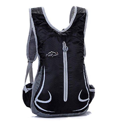SINCERE@ Équitation sac à dos mâle sac casual épaule femme sac sac de sport vélo sac à dos à dos en plein air ultra-léger (noir)
