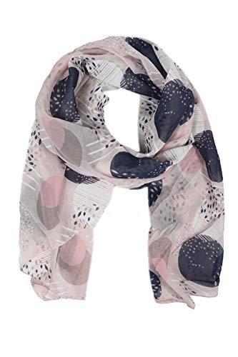 Zwillingsherz Seiden-Tuch im stilvollen Design - Hochwertiger Schal für Damen Mädchen - Halstuch - Umschlagstuch – Pashmina - Loop - weicher Schlauchschal für Frühjahr Sommer Herbst Winter - rosa