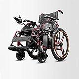 Decoración de muebles Silla de ruedas eléctrica para discapacitados Empuje manual / Conmutable eléctrico conveniente Tipo plegable (batería de iones de litio de 20 A) Silla de ruedas de viaje para