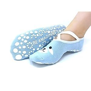 Yoga Socks for Women Barre Sock Grip Non-Slip No-Skid Pilates Hospital Maternity