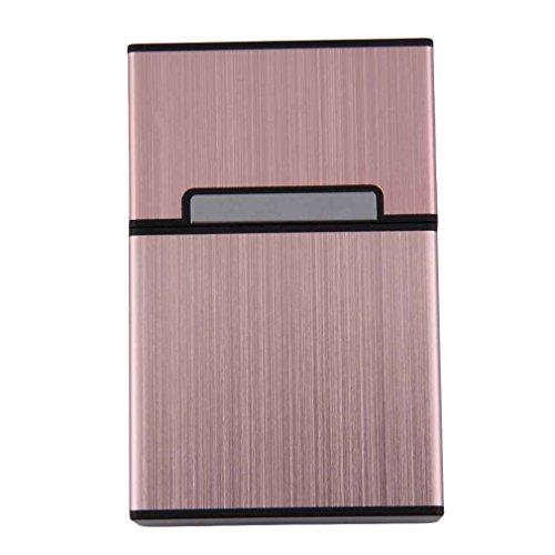 LUFA Caja de cigarrillos de aluminio ligero Caja de cigarrillos Porta-tabaco Contenedor de almacenamiento Accesorios de fumar
