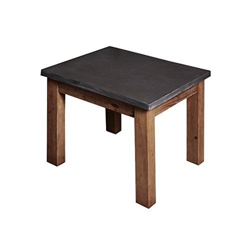 ZWD Table à thé en Bois Massif, Table de Salon Creative Table à café Table d'ordinateur de Bureau Table à Langer Multifonction de Style Industriel Meubles (Taille : 45 * 55CM)