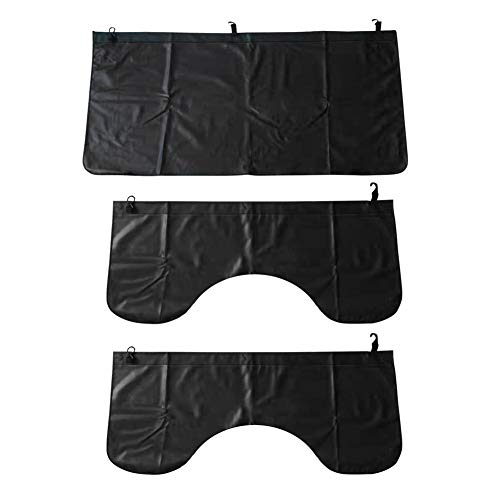 3Pcs Set Car Protective Fender Covers Automotive Magnetic Protective Mat for Repair PU Leather Fender Cover Work Mat, Scratching Prevention Mat Pad with Hooks (Size L)