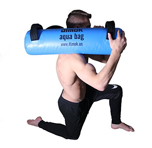 dimok Workout Sandbag Alternative Aqua Bag Training Weight Bag Sandbags for Fitness - Crossfit Water Weights Full Body Exercise Equipment - Comes w Pump (45)