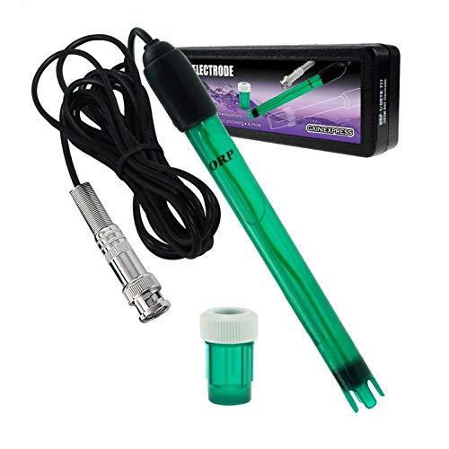 GAIN EXPRESS Redox-Elektrode, BNC-Stecker Ersatzsonde Für Messgerät-Monitor Controller Oxidationsreduktionspotenzialprüfung, 14 cm Lang, 1,2 cm Durchmesser, 300 cm, Extra Langes Kabel
