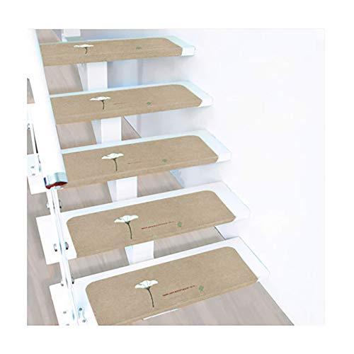 LPLND Alfombra de Escalera 15 Piezas De Almohadilla De Huella De La Escalera De La Alfombra Viscosa, Almohadilla Protectora Antideslizante Duradera, 70 * 22 Cm