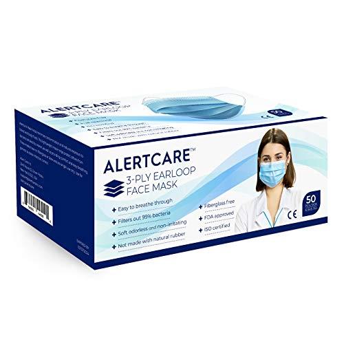 Pleno Alertcare 50piece 3-layer Disposable Face Shield, 1count