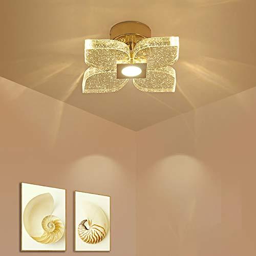 Hancoc LED 6W Moderno Simple Aluminio + Acero Inoxidable + Cristal K9 Luz Tricolor Corte por láser 36W Sala de Estar Dormitorio Pasillo Pasillo Luz de Pared/Lámpara/Lámpara