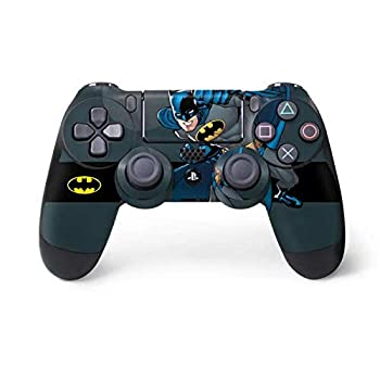 Skinit Decal Gaming Skin for PS4 Controller - Officially Licensed Warner Bros Batman Ready for Action Design