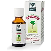 BADERs de la farmacia. Aceite de árbol de té. El clásico de la farmacia. Doble destilación. Melaleuca australiana alternifolia. 30 ml