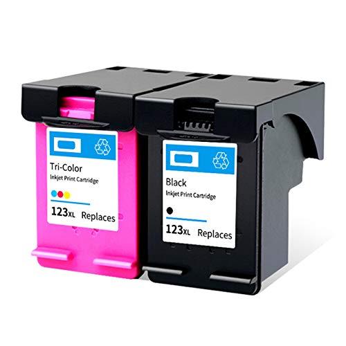 Reemplazo de cartuchos de tinta remanufacturados Adecuado para HP123XL, para HP 1111 1112 2130 2131 2132 3630 Impresora 1*black1*color