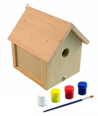 Windhager Nesting Box Kit Robin Bird House Build Your Own And Paint Beige, Includes Paint And Brush,?06945 from Windhager